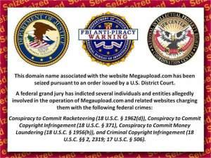 """Portada que ha quedado en MegaUpload """"firmada"""" por los Federales"""